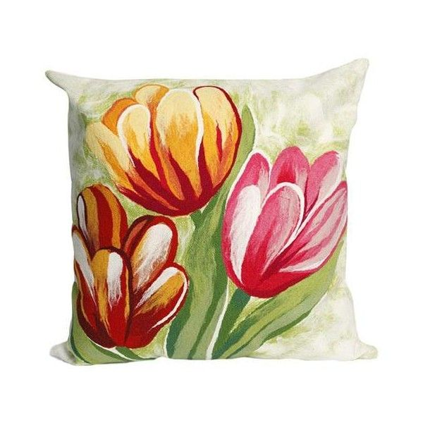 Fabulous Home Decorators Collection Tulip Decorative Pillow Liked On  Polyvore Featuring Home With Home Decorators Outdoor Cushions.