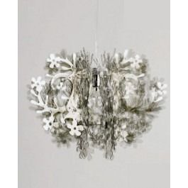 """<p><span lang=""""EN-GB"""">The brand new Fiorella Chandelier by Slamp is designed by Nigel Coates in 2006. When made in smoky Cristalflex® Fiorella becomes a whirl of abstraction; a fizzing ball of light and reflection.</span></p>"""
