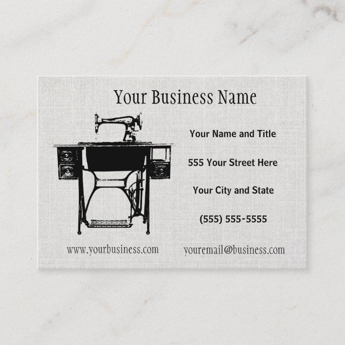 Custom Seamstress Tailor Or Vintage Business Cards Zazzle Com Vintage Business Cards Business Card Contemporary Cards