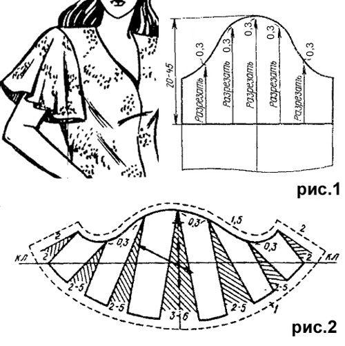Short-sleeve flared shuttlecock