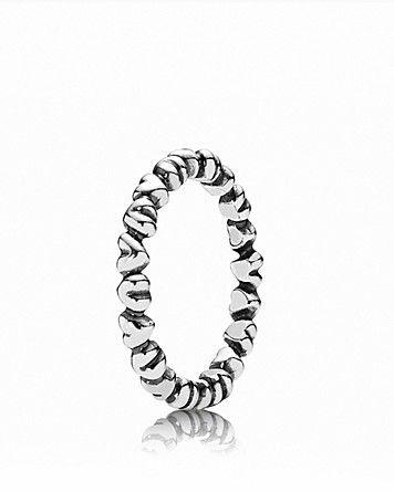 PANDORA Ring - Sterling Silver Heart | Bloomingdale's- perfect thumb ring :)