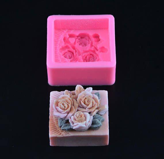 Moule Silicone 3D Fleur Gâteaux Chocolat Porcelaine Fimo Bougie Savonette