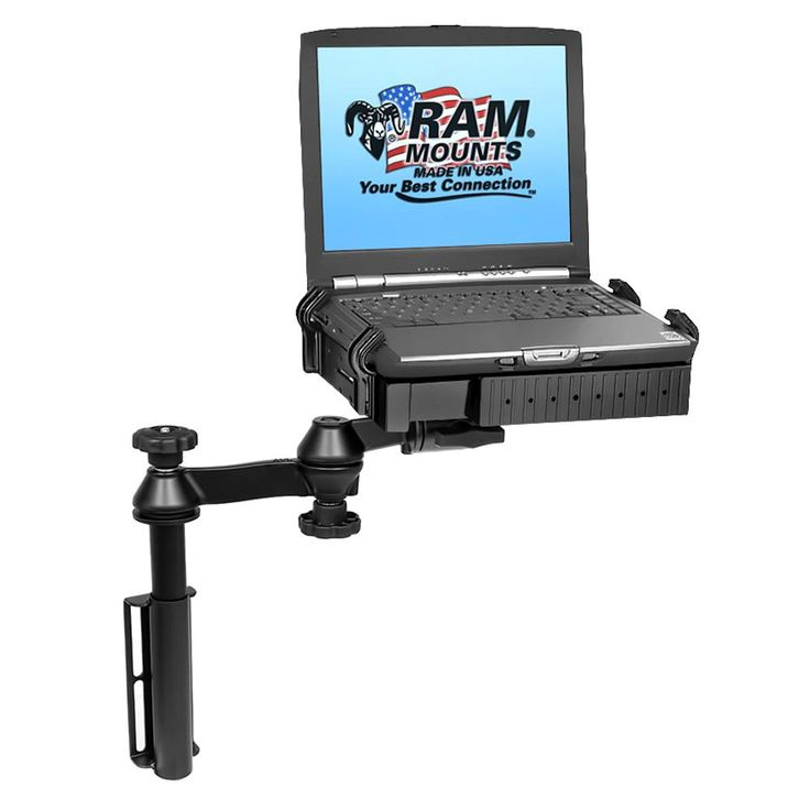 RAM Mount Universal Flat Surface Vertical Drill-Down Vehicle Laptop Mount Stand [RAM-VB-181-SW1]