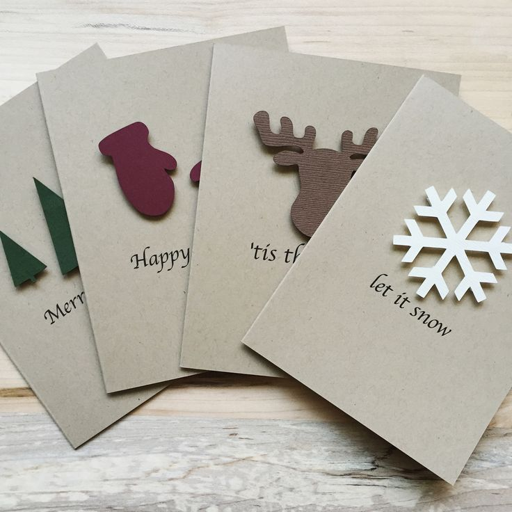 Rustic Holiday Card Set - Set of 8 | The Cove Co.