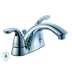 Glacier Bay, Builders 4 in. 2-Handle Low Arc Bathroom Faucet in Chrome, 7032EC-A8101 at The Home Depot - Mobile