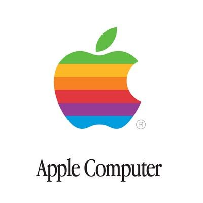 Apple's old logo.