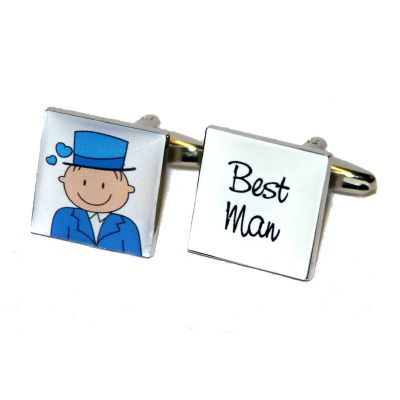 Smile & Wedding Role Cufflinks - Blue Product Code : WC711   Smile & Wedding Role Cufflinks with one cufflink with the picture of the groom & the other with the wedding role. Available in 18 wedding roles  Best Man, Brides Son, Brother of the Bride, Brother of the Groom, Father of the Bride, Father of the Groom, Godfather, Grandfather of the Bride, Grandfather of the Groom, Groom, Grooms Son, Groomsman, Nephew, Page Boy, Ring Bearer, Step Father, Uncle and Usher