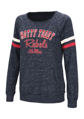 Colosseum Athletics Girls' Ole Miss Rebels Stormin The Castle Pullover - Mississippi Blue - Xl