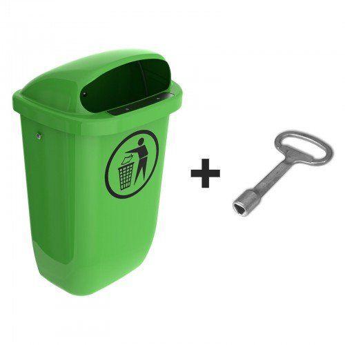 corbeille papiers poubelle sulo 50 l vert 1 cl triangle - Poubelle De Cuisine Vert Pastel