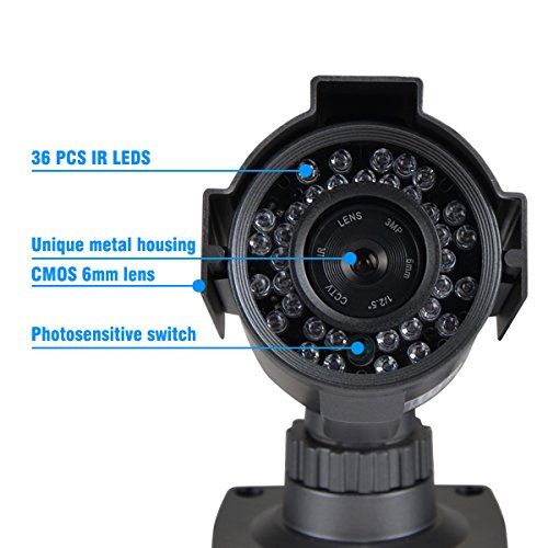 JOOAN 605HRA 1000TVL Bullet Camera CCTV Analog Camera Home Security Systems With HD Night Vision