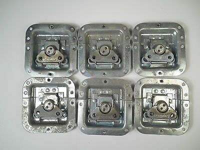 Lot of 6 Grundorf Recessed Twist Lock Catches for Road or Equipment Cases