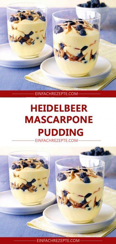 Heidelbeer-Mascarpone-Pudding 😍 😍 😍
