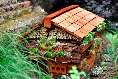 Bug Hotels give insects and inverterbrates a place to live right in your garden.  Hotels are used for shelter, safety, nesting, and finding food.  This trend is popular in Europe.