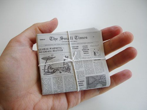 This is the newspaper that comes with the worlds smallest post service kit. There is a significant part of me that wants it!