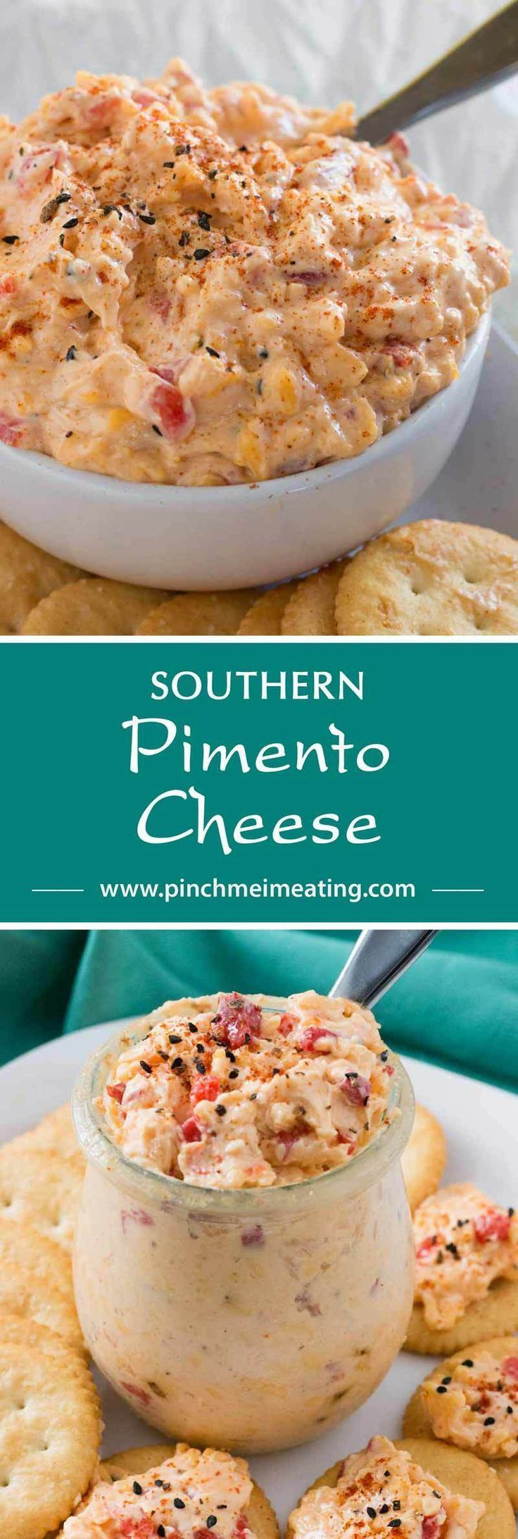 With ample seasonings and just a little kick, creamy Southern pimento cheese is great with everything from crackers or burgers to crab cakes or grits! This cheddar cheese spread also makes a great cold party appetizer dip that doesn't require the oven. | https://lomejordelaweb.es/