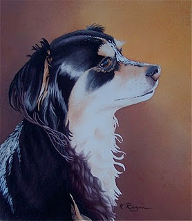 Tobias, a very small Mexican rescue dog, with the heart of a lion. Another portrait commission done for friends.