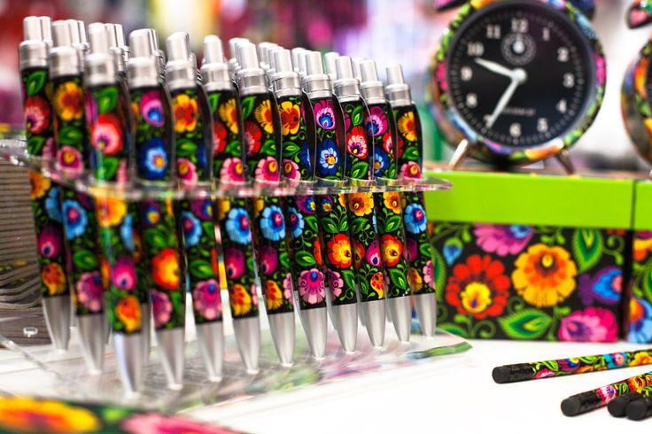Długopisy FOLK, Budzik FOLK, na ludowo, ludowe, biała, kwiatki, łowicz, design, folkstar, budzik