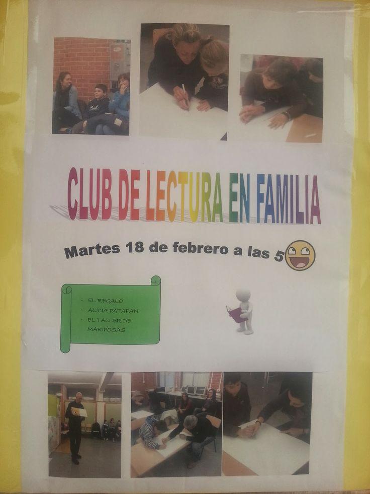 El próximo martes día 18 de Febrero a las cinco de la tarde, nos reuniremos en el colegio para celebrar una nueva sesión del Club de Lectura.