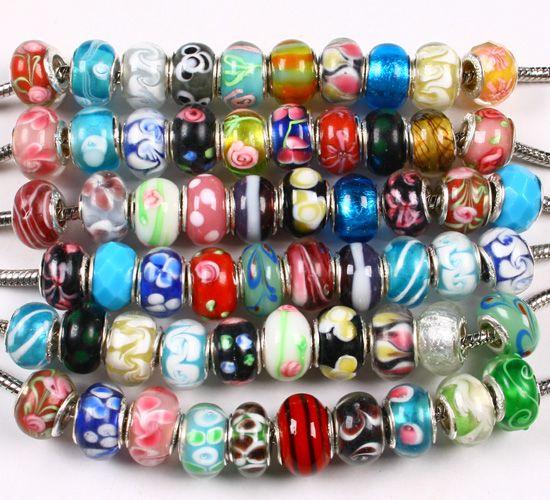 bulk beads wholesale silver plated pandora lampwork glass beads wholesale silver