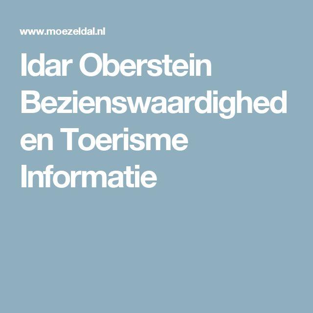 Idar Oberstein Bezienswaardigheden Toerisme Informatie