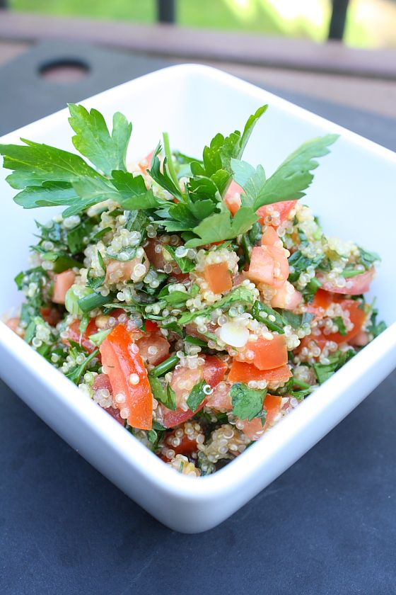 Gorgeous for a summer get together -- Quinoa Tabbouleh