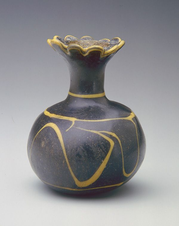 "Ancient ""pomegranate""  flask, Egypt."