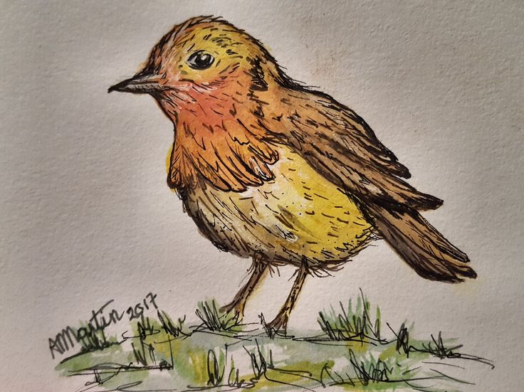 Little Bird, Paintes with Inktence Blocks and GellyRoll Shimmer Pens.