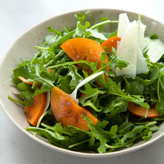 Arugula and Persimmon Salad with Shaved Manchego Cheese Recipe - Sarah Bolla | Food & Wine