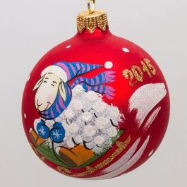 Lamb on a Sled - Symbol of the Year 2015 Ball Christmas ...