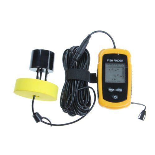 Lychee Fish Finder New Portable Sonar LCD Alarm Sea Contour Ice 100M 328Ft Detect Weeds