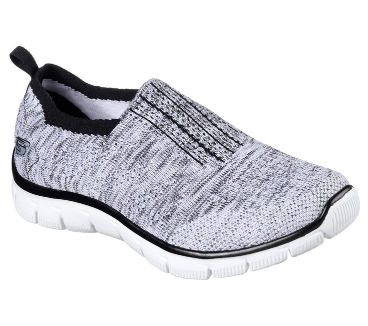 12419 White Black Skechers shoes Memory Foam Women sporty Comfort Casual  Slip On