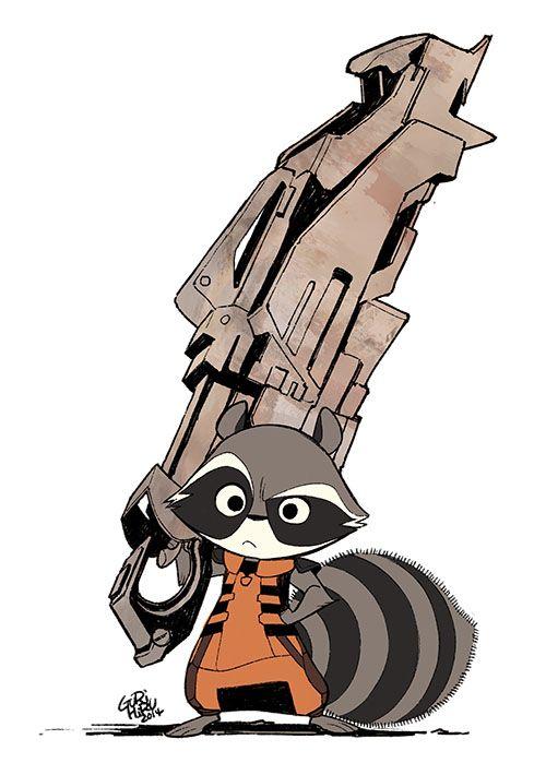 Adorable Rocket Raccoon