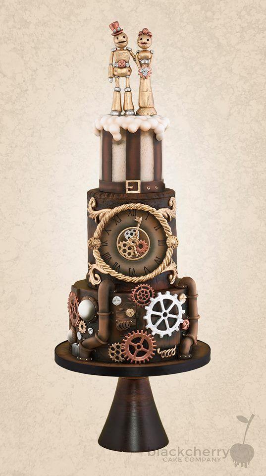 Steampunk Robot Wedding Cake