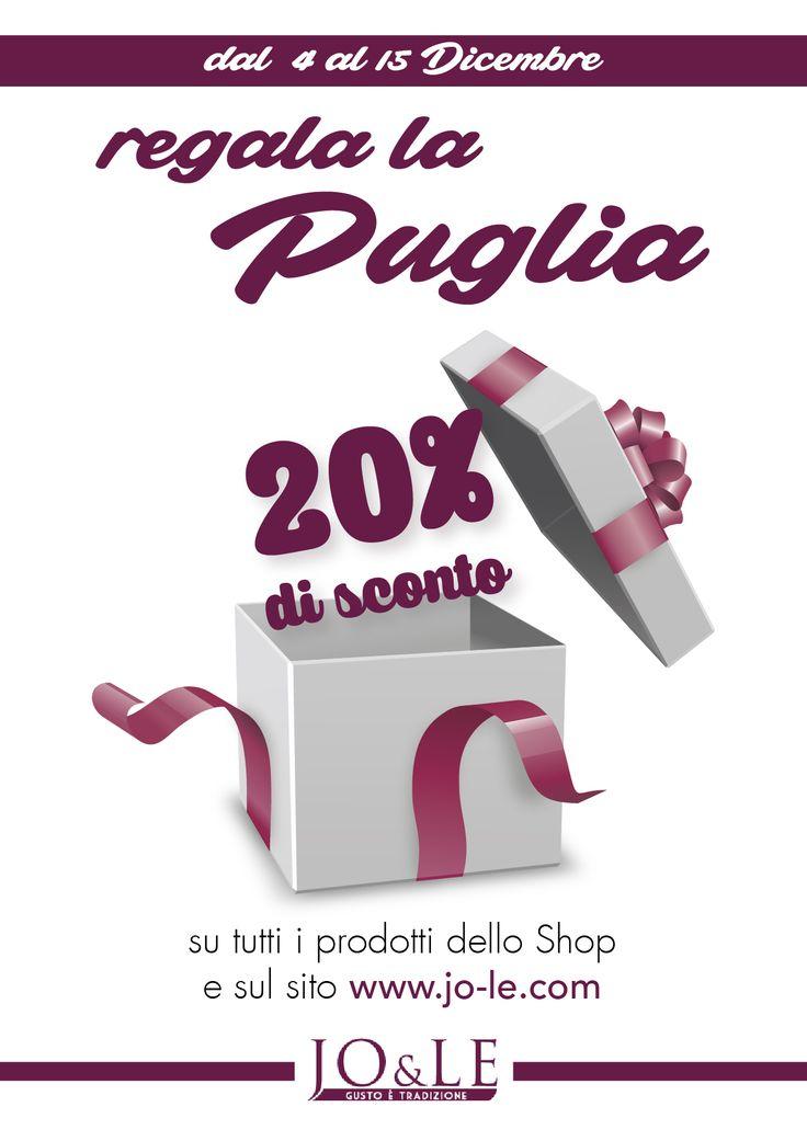 Scegli il regalo perfetto per questo Natale, seduci con odori e i sapori della Puglia. Approfitta dei nostri vantaggiosi sconti!!!! http://www.jo-le.com