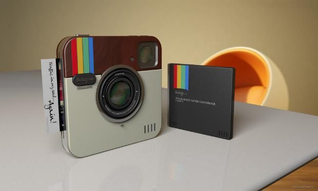 Instagram Socialmatic is a concept design of what the Instagram camera might look like in real life | Ubergizmo