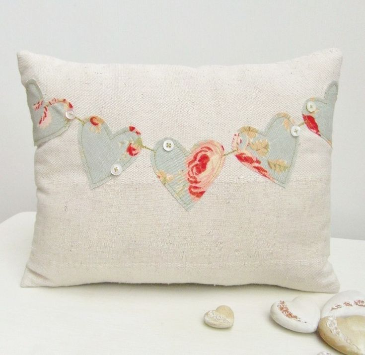 Hearts could be made from pretty vintage linens...see the random little buttons?!?