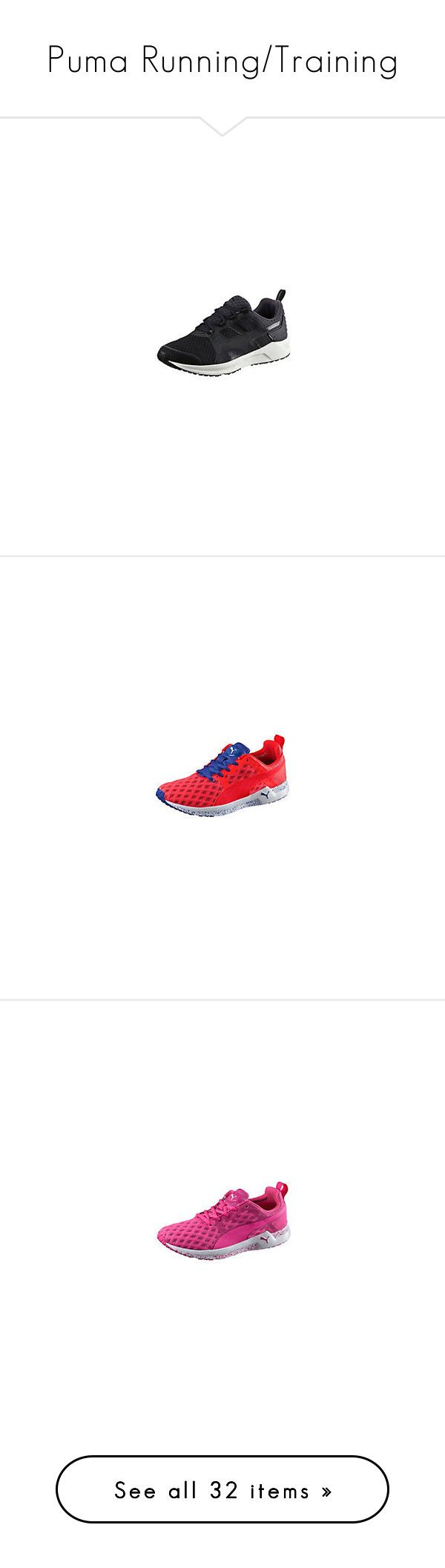 """Puma Running/Training"" by tynabrookler ❤ liked on Polyvore featuring shoes, athletic shoes, puma shoes, grip shoes, stitch shoes, caged shoes, sport shoes and sneakers"