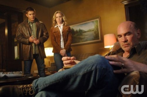"""""""In The Beginning"""" - Pictured (L-R) Jensen Ackles as Dean, Amy Gumenick as Mary Winchester, Mitch Pileggias Samuel Winchester in SUPERNATURAL on The CW. Photo: Sergei Bachlakov/The CW ©2008 The CW Network, LLC. All Rights Reserved."""