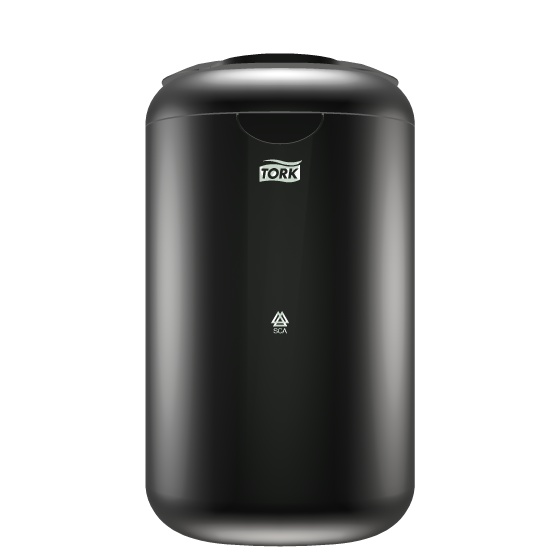 Tork Bin 5 Ltr (B3) Black    The new Tork Bin 5Ltr B3 is a welcome solution to provide your guests with an up-to-date hygienic and versatile waste bin. Being part of the award-winning design series Tork Elevation, it also has the looks to truly complete your washroom.        Easy to clean      Discrete disposal      Small in size      Easy waste handling