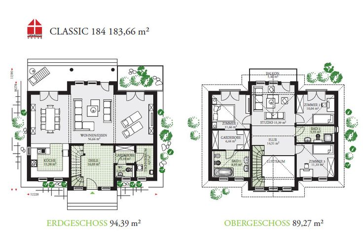Classic 184 - DAN-WOOD House schlüsselfertige Häuser