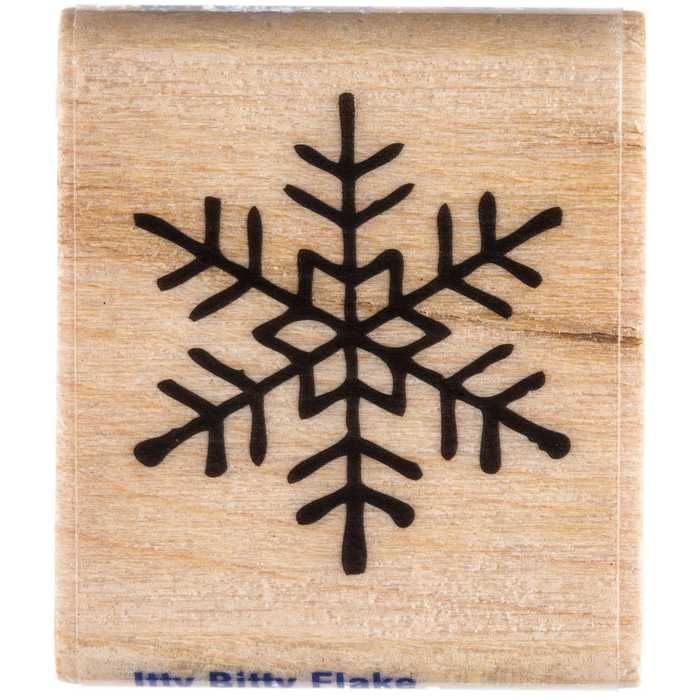 Itty Bitty Flake Rubber Stamp