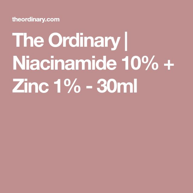 The Ordinary   Niacinamide 10% + Zinc 1% - 30ml