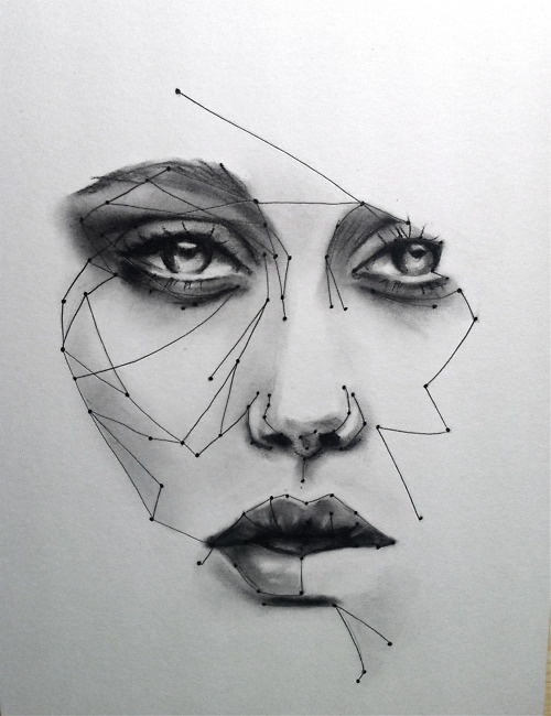 Charcoal. Ink.    www.katezambrano.com  WOW so cool