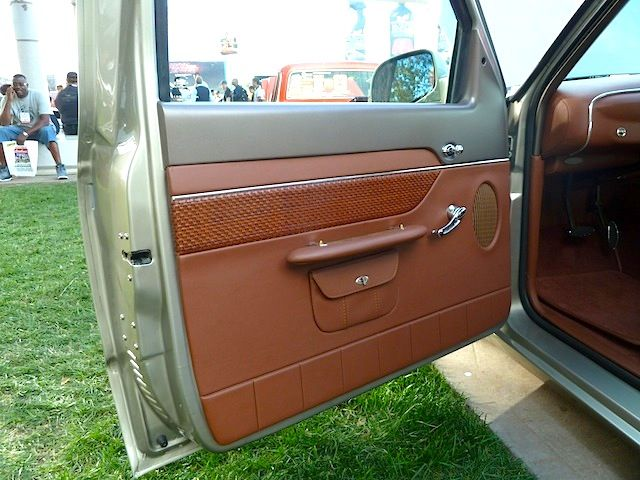Ford ranger brown and grey modern and retro interior for 1950 chevy truck door panel
