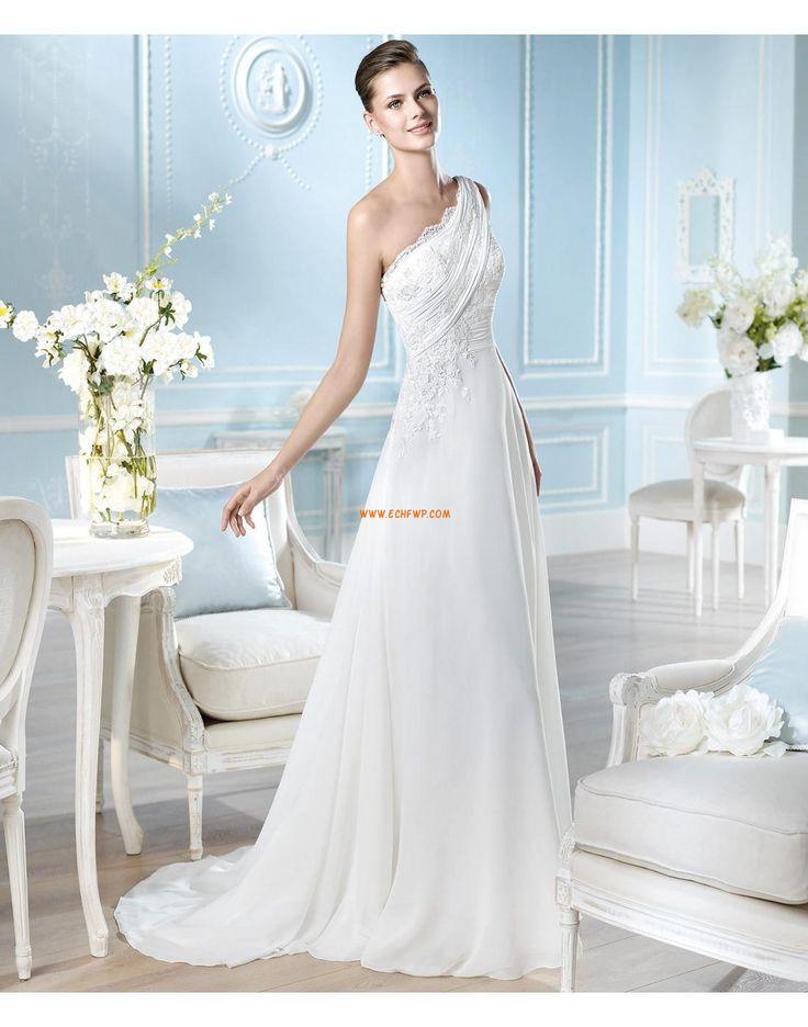 Små Hvite Kjoler Plus Sizes Applikasjoner Designer Bryllupskjoler