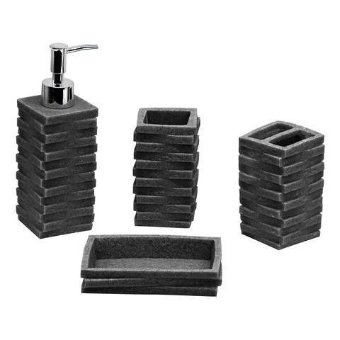 4pc Bathroom Accessories Set Toothbrush Holder Soap Dish Lotion Dispenser Tum Bathroom Accessories Sets Bathroom Accessories Uk Gray Bathroom Accessories