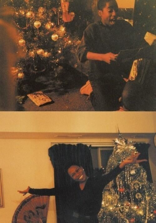 Young Tupac Shakur at Christmas. This photo is amazing! Pac was once a happy little kid, just like we all were at one time or another.  #headcasefnf