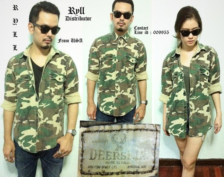 Camouflage jacket-shirt