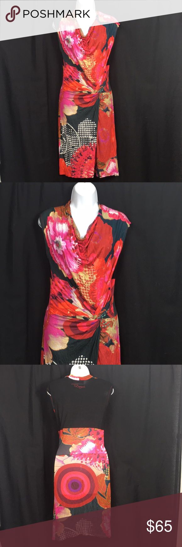 """Desigual Small Gorgeous Pencil Dress Desigual size small absolutely beautiful Pencil dress ... 43"""" top to bottom laying flat ...18"""" armpit to armpit....BUNDLE 3 or More SAVE 20%!!! Spend 💲20 or more and choose a FREE GIFT!!!!Choose your free gift by commenting on the item..... items with a 🎁 qualify as a free gift! Desigual Dresses"""