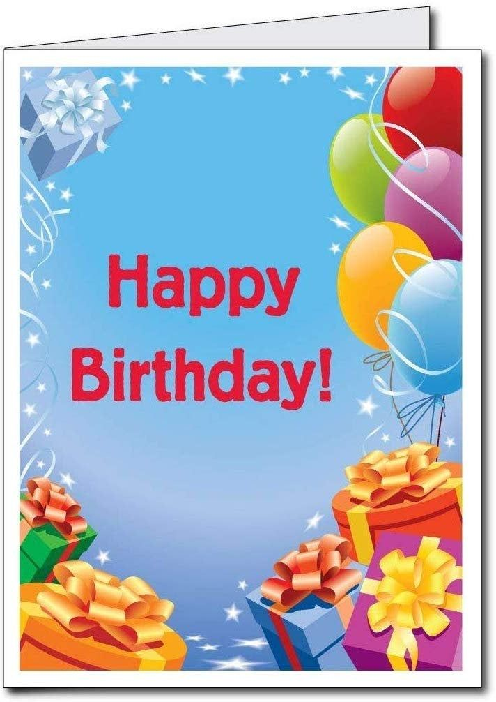 Jumbo Greeting Cards Giant Custom Birthday Card Presents And Balloons 2 X 3 Card With Envelope Happy Birthday Signs Birthday Cards Big Birthday Cards